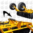 WHEELS HYDRAULIC RISING DISC HARROWS