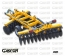 V-SHAPE CARRIED DISC HARROWS WITH CENTRAL WHEELS