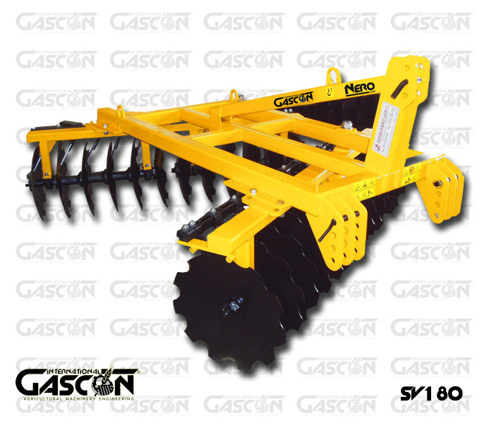 TRAILED V-SHAPE DISC HARROWS